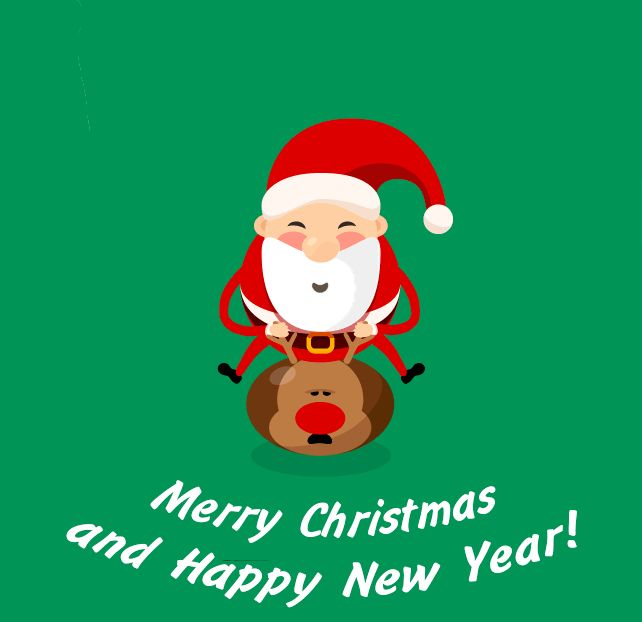 Merry Christmas and Happy New Year GIFs. 50 Animated Cards