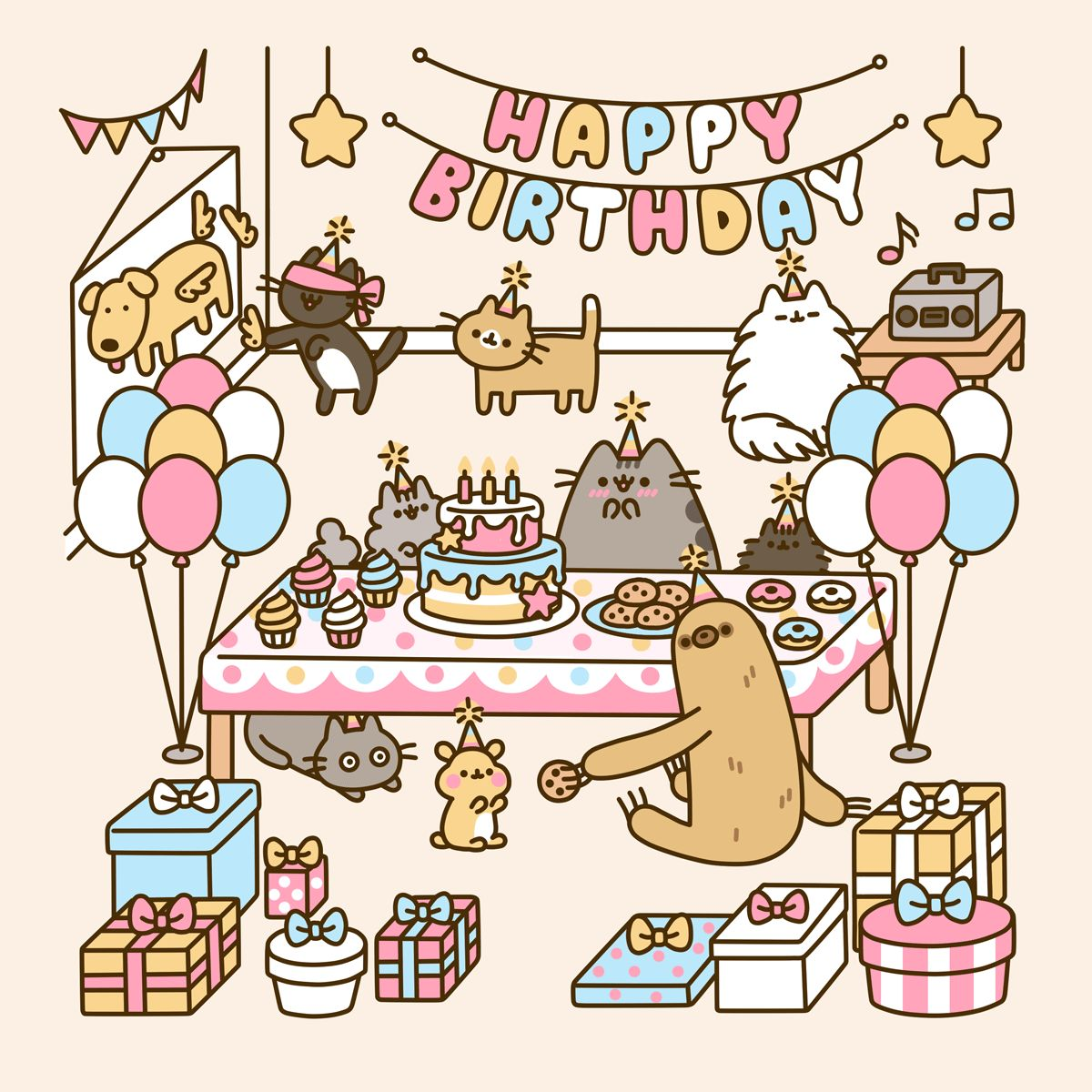 Cat's Birthday GIFs. 40 Animated Images For Free