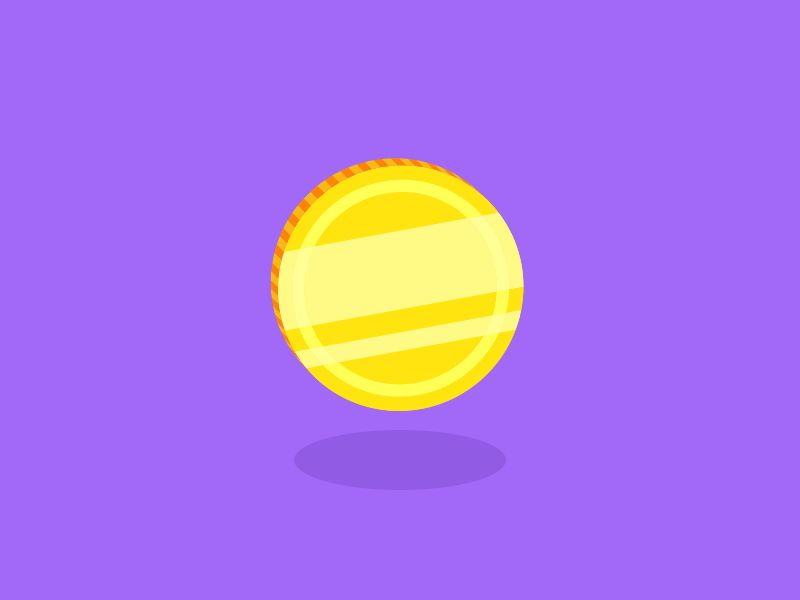Flipping Coin GIFs. Coin Toss, Rotation on Animated Images