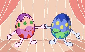 Easter Eggs on GIFs. 75 Animated GIF Images for Free
