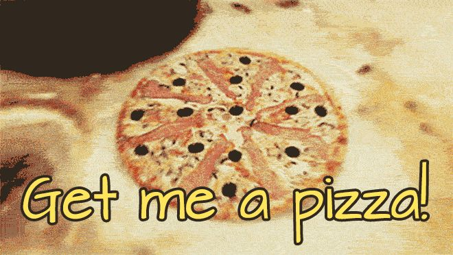 Get me a Pizza GIFs. 25 GIF Animations For Free