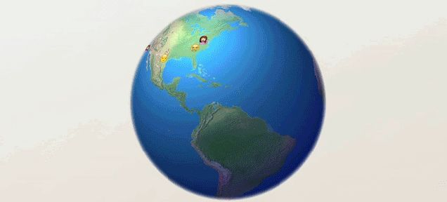 Spinning Globe GIFs. Rotating Earth on Animated Images for Free
