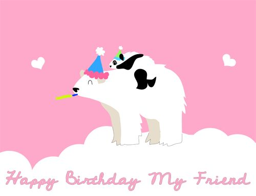 Happy Birthday Friend GIFs. 50 Animated Greeting Cards For Free