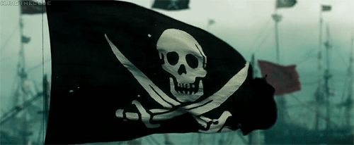 Pirate Flag on GIFs, Jolly Roger  25 Best Animated Images