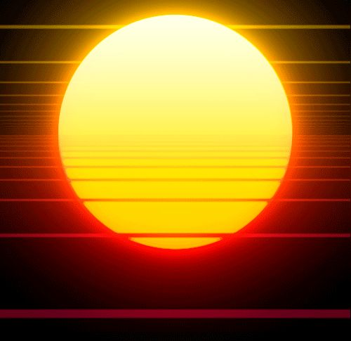GIFs of The Sun. Sunrises, Sunsets, Sunny Landscapes, Space View