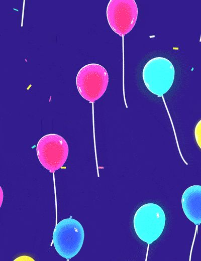 GIF Balloons for Birthday or other Celebrations. 60 GIFs