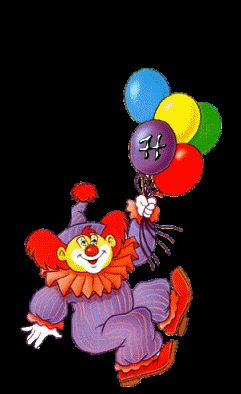 Clowns GIFs. 75 pieces of animated images of funny or scary clowns