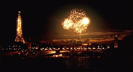 GIFs Fireworks. Festive Fire in the sky! 40 Pieces of Animated Pictures