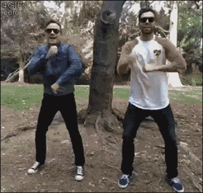 Funny GIFs Friendship, Friends. 102 Pieces of Animated Pictures