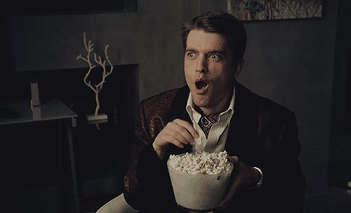 Eating Popcorn GIFs. 70 Animated GIF Images for Free