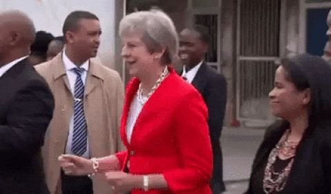 GIFs Teresa May Dances. 18 Animated Pictures. Download for Free!